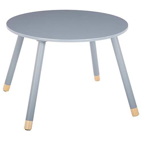 Runder Holztisch für Kinder - Farbe GRAU