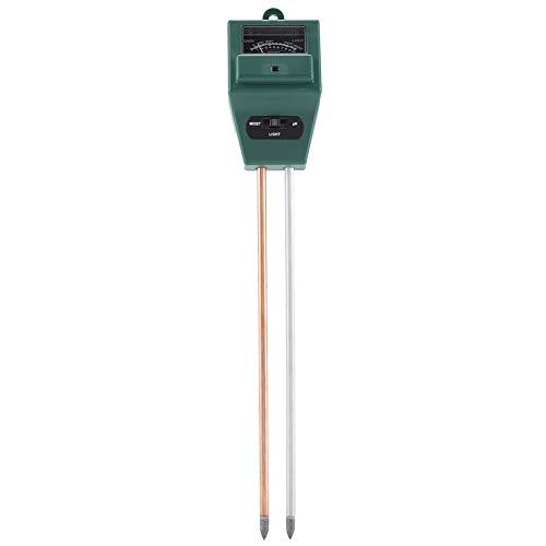 Dewin Misuratore PH Terreno - 3 in 1 misuratore di PH misuratore di umidità per Prova di umidità del Suolo sensore di Luce Solare per Fiori da Giardino