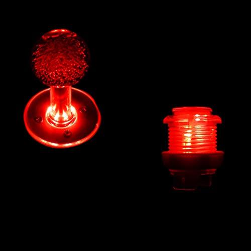 SJ@JX Arcade Game LED DIY Kit Mechanische Tastatur Schalter Arcade LED Knopf LED Joystick Controller Zero Delay USB Encoder für PC MAME Retropie Jamma rot