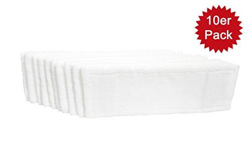 HELOME® 10x Microfasermöppe für Haushalt und Gewerbe | Wischbezüge für 40cm Mopphalter | Taschenbezüge für professionelle Reinigung | bis 90 Grad und für Trockner