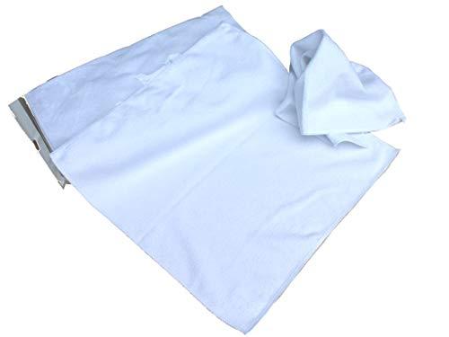 S&S 10x Microfasertücher Weiß 30x30 cm │ Fusselfrei │ saugstarke Haushaltshilfen │ Allzwecktuch