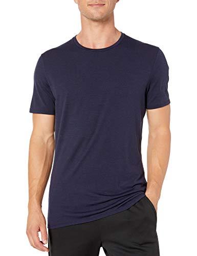 Icebreaker Anatomica SS Crewe T-Shirt à Manches Courtes pour Homme M Bleu Marine (Midnight Navy)