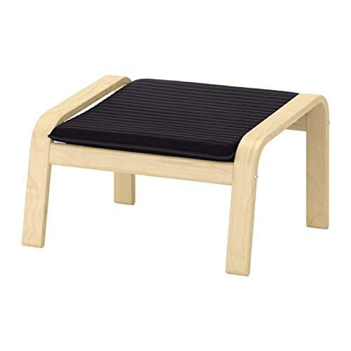 IKEA Poang Ottoman Birkenfurnier Knisa schwarz 892.446.60