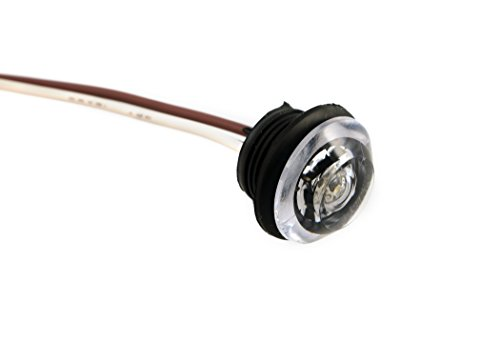 Innovative Lighting Innovative Lighting LED Clear Lens Bulkhead Shortie Light with Black Grommet, Amber
