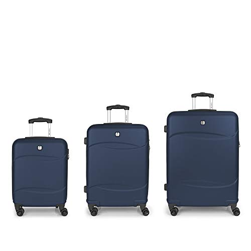 Set of 3 Suitcases C22-M-L Gabol Orleans Blue