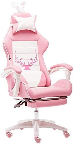 Sillas Silla equipo ergonomía juego video con el estribo de competición de silla for juegos altura ajustable giratorio de la PU de los asientos de cuero con reposacabezas y soporte lumbar (color: A) S