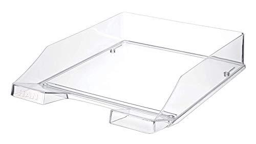 HAN Briefablage KLASSIK TRANSPARENT – 6 STÜCK, moderne, transparente und stapelbare Ablage im frischen Design bis Format A4/C4, transparent-glasklar, 1026-X-23
