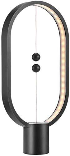 Heng Balance Lampe - LED Tischleuchte Magnetischer Mid-Air-Schalter, 2018 Balance Nachttishlampe Augenpflege [USB-betrieben] Dekoration für Schlafzimmer, Wohnzimmer und Büro (Schwarz)