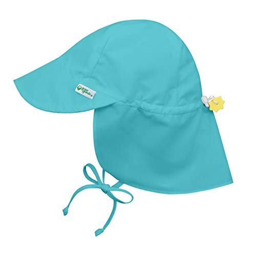 i play. by green sprouts Baby Sun Hat, Aqua, 0-6 Months