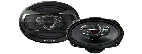 Pioneer TS A6924i Lautsprecher; 15,2x 22,9cm; 3Wege Flach Lautsprecher. Carbon Graphit 400W max