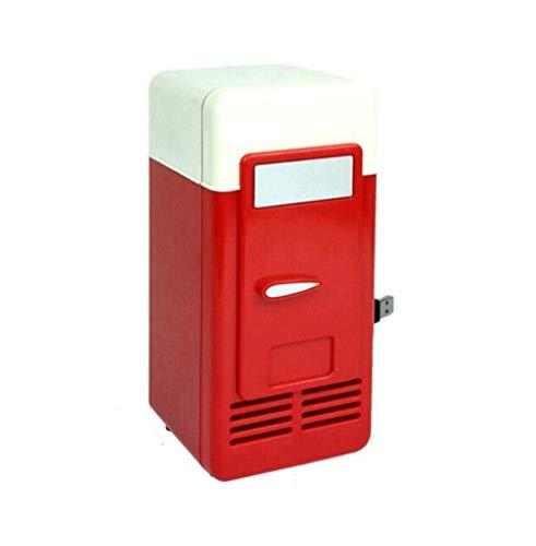 LaLa POP Buena USB Mini refrigerador frío y en Caliente de Doble Uso Refrigeración Calefacción pequeño refrigerador Medicina Estética Refrigerador Refrigerador (Color: Negro) (Color : Red)