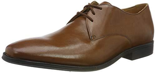Clarks Gilman Walk, Zapatos de Cordones Derby para Hombre, Braun Dark Tan Lea, 44.5 EU