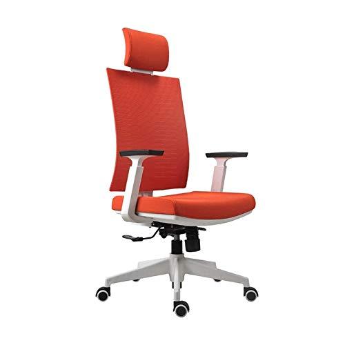 Bdesign Home Bürostuhl Konferenzstuhl mit Unterstützung Armlehne höhenverstellbare Arbeitsstuhl Haushaltshebung und rotierender ergonomischer Computerstuhl (Color : Red.)