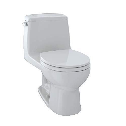 TOTO MS853113E#11 Eco Ultramax Round Front One Piece Toilet, Colonial White