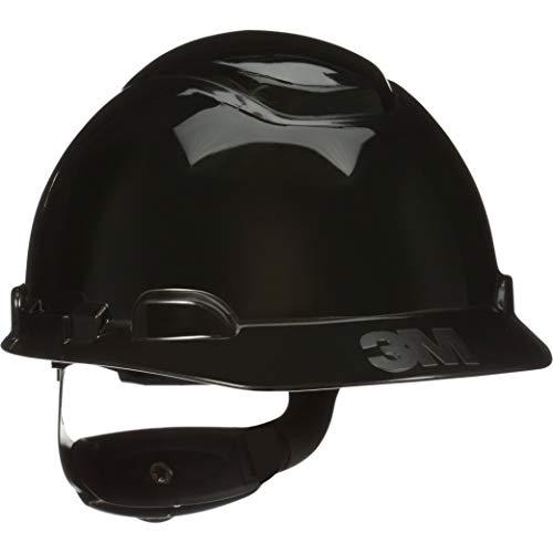 3M Hard Hat Black Lightweight Vented Adjustable 4Point Ratchet H712V