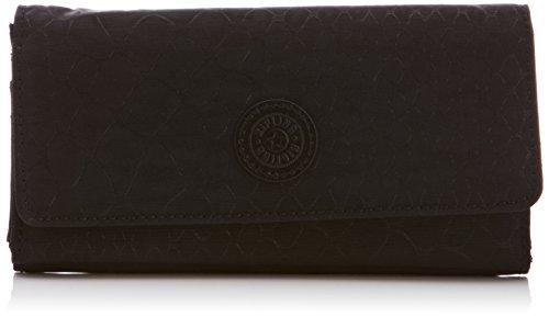 Kipling BROWNIE Black Animal K13865C21 Damen Geldbörse 19x10x3 cm (B x H x T), Schwarz (Black Animal C21)