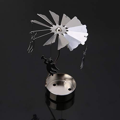Koehope Kandelaar, roterende spinning, theelichtjes, metaal, theelichthouder, carrousel, wooncultuur, cadeau