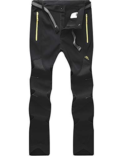 BenBoy Pantaloni Trekking Uomo Invernali Impermeabile Caldo Pantaloni Softshell Outdoor Pantaloni da...