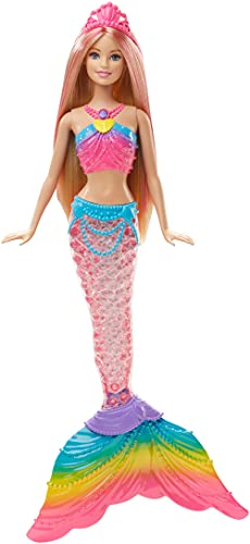 Barbie Dreamtopia Rainbow Lights Mermaid Doll, Blonde with Light-up Tail
