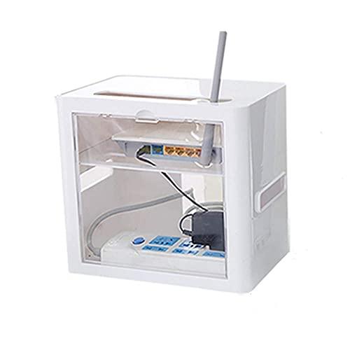 Roteador sem fio, caixa de armazenamento, organizador, estante, suporte, set-top, criativo, rack, duplo, flutuante, contêiner, plugue, cabo, computador, hubs usb, para, home office