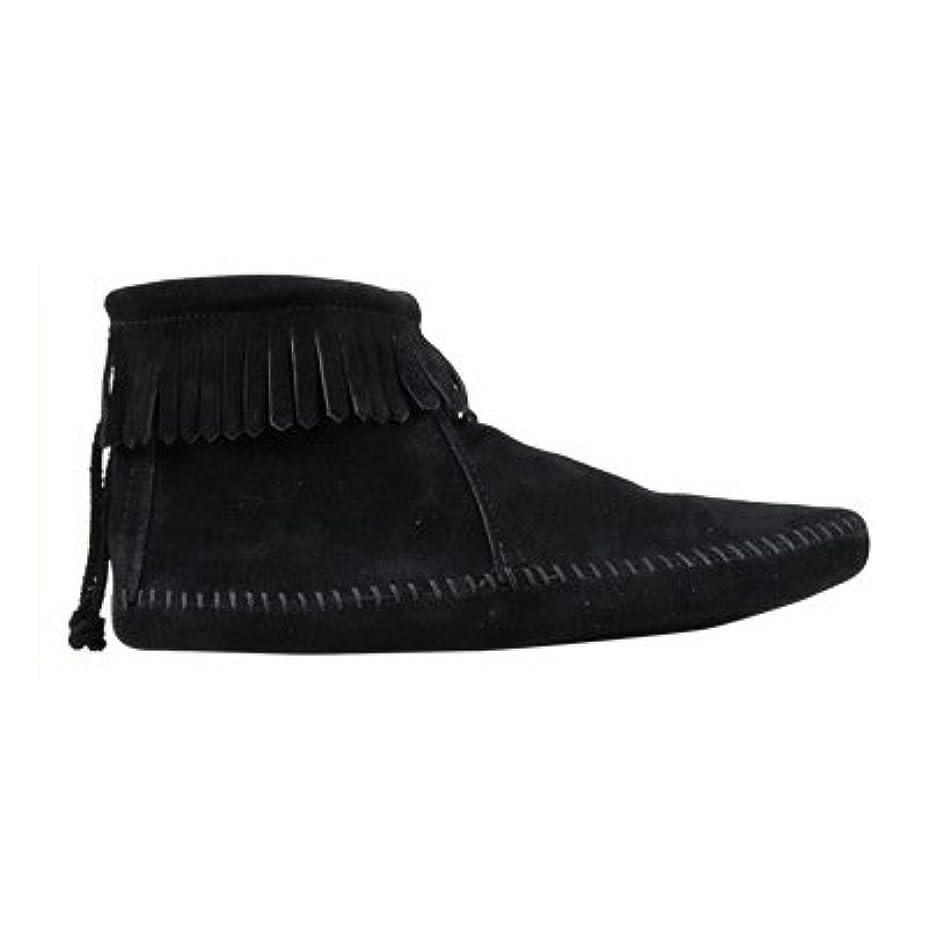 不足バーナイロン[ミネトンカ] 189 BACK ZIPPER BOOT バック ジッパー ブーツ US6(約22.5-23.0cm) BLACK[ 189 ](並行輸入品)