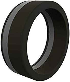 QALO Men's Thin Line Pinstripe Collection - Silicone Rings