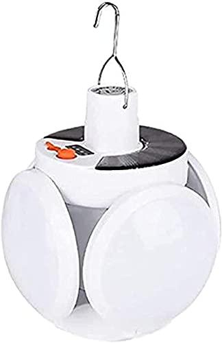 ポータブルシーリングライトナイトライト、フットボールLEDソーラーシーリングライト、家庭用およびガレージUFOライト、中庭の照明、クリエイティブライト、40W高輝度折りたたみ式、充電式、ポリシリコンソーラーパネルは