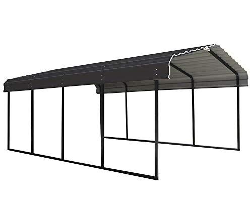 *ShelterLogic Stahlcarport Neapel 3,7×6 m Unterstand Autogarage Carport Bausatz Überdachung Stahl Auto robust stabil witterungsbeständig*
