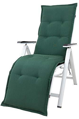 Kettler Polen KETTtex 2147 Auflage Relaxliegen Florence dunkelgrün Sitzpolster 170x50x8 cm (ohne Liege)