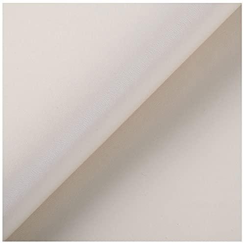 Cuero Artificial PU Venta de Polipiel por Metros 100x138cm Blanco Tejido De Piel SintéTica Patrón de Lichi Piel para Tapizar Reparar Roto Sofá Silla Gamer(Size:1.38 * 2m,Color:Blanco)