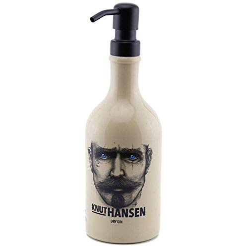 Dekoflasche - Knut Hansen Seifenspender - Dekospender Knut - Edelstahlpumpkopf wählbar - Flüssigseife