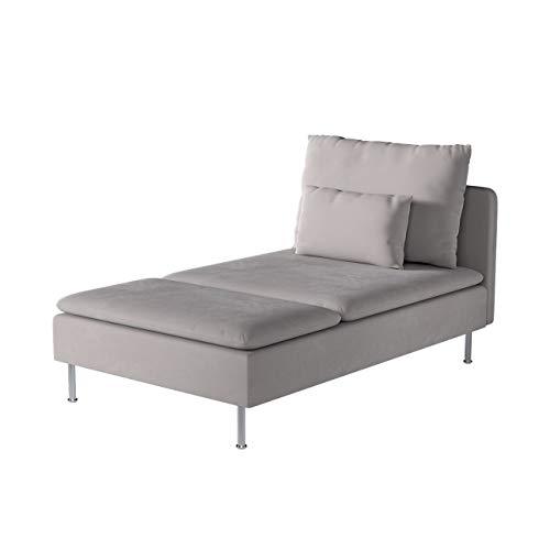 Dekoria Söderhamn Bezug für Recamiere Husse passend für IKEA Modell Söderhamm grau