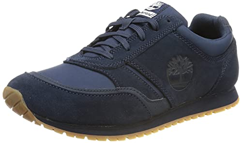 Timberland Herren Lufkin Fabric and Leather Oxford Basic Sneaker, Navy Suede, 45 EU