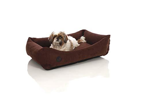 Pets&Partner Hundebett | Hundekissen | Hundekorb |Hunde Bett/Sofa für groß und Klein, Größe L bis XXL, L Braun