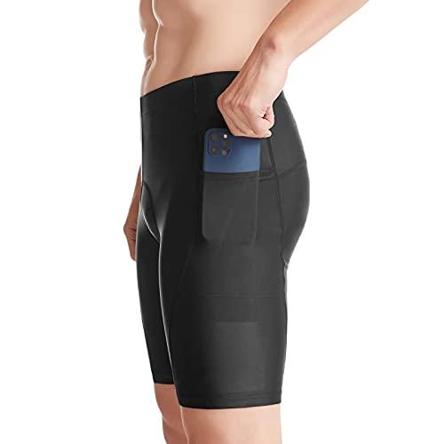 Lixada Pantaloncini da Ciclismo da Uomo Imbottitura Traspirante con Tasche Pantaloni Corti da Bici Asciugatura Veloce Morbido per MTB Biciclette da Corsa