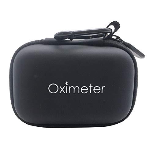 Wakauto 1 pç capa oxímetro impermeável rígida multiuso portátil EVA bolsa de armazenamento bolsa com zíper para colegas de trabalho