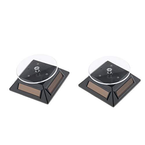 Milageto 1 Paar Um 360 ° Drehbare Displayständer Drehtisch Solarbatterie