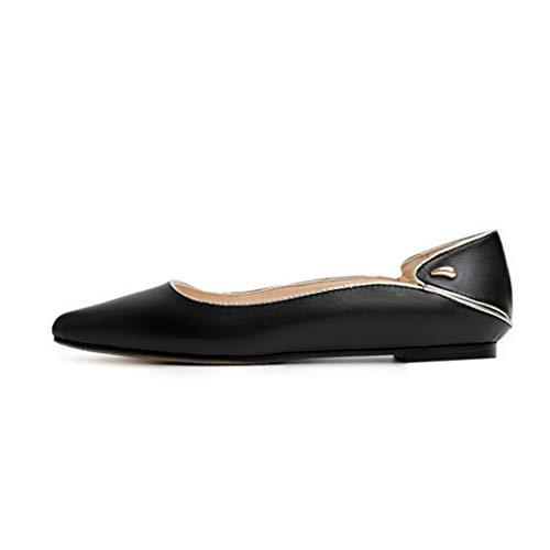 Zapatos Planos para Mujer Zapatos de Cuero con Punta Puntiaguda Bailarinas cómodas para Mujer Zapatos sin Cordones con Plataforma