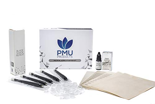 Premium Starter Microblading Kit Professional Grade - Bestsellers from PMU Products - Cosmetic Tattooing Practice Value Pack