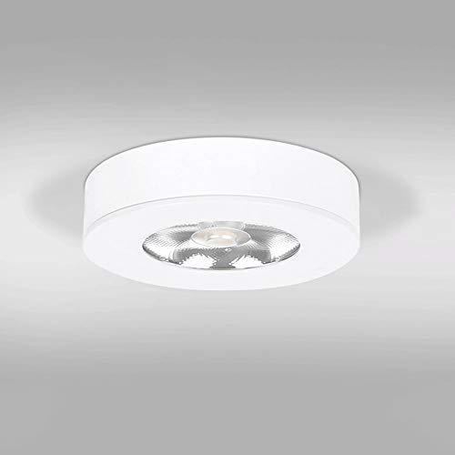 QTWW Lámpara de Techo LED pequeña Ultrafina montada en Superficie Lámpara de Techo empotrada en el Techo Mini lámpara de Techo Simple (Color: Blanco)