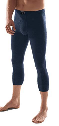 ESGE - Jeans - Herren Unterhose 3/4 lang Feinripp mit Eingriff und weichem Komfortbund Größe 5 bis 9 - Dunkelblau und Schwarz (6, Schwarz)