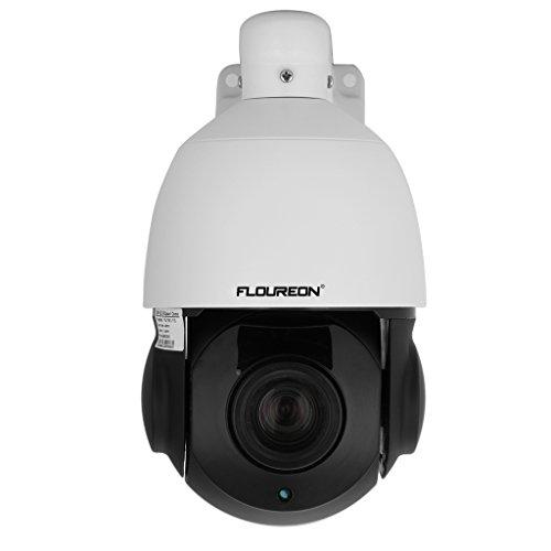 FLOUREON 1080P Dome IP Kamera CCTV Überwachungskamera PTZ 18X Zoom 4.7-84.6mm P2P IP Cam IR-Cut Infrarot 50M Nachtsicht Wasserdicht Sicherheitskamera Bewegungsmelder