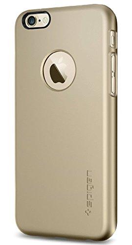 iPhone 6 ケース, Spigen® ジャストフィット Apple iphone 4.7 (2014) シン・フィットA ** アップルロゴのアクセント ** The New iPhone アイフォン6 (国内正規品) (シャンパン・ゴールド 【SGP10943】)