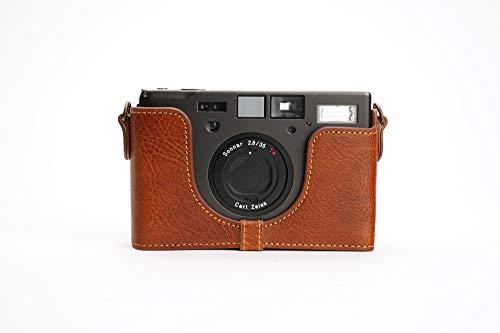 Contax T3 Tasche, Zakao handgefertigt, Echtleder, Halbkameratasche für Contax T3 mit Handschlaufe