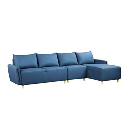Yunbai Conjuntos de sofás para sala de estar Sofá modular MODERNA MODERNO MODERNA MODULAR SOFA MODULAR SOFA L-en forma de sección transversal por doble asiento sin reposabrazos con almohadas, adecuado