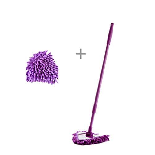 GAO SHOP Mini microfiber mop, draaibare verwijderbare en wasbare home badkamer keuken plafond tegel vloer muur schoonmaken artefact 180 graden rotatie