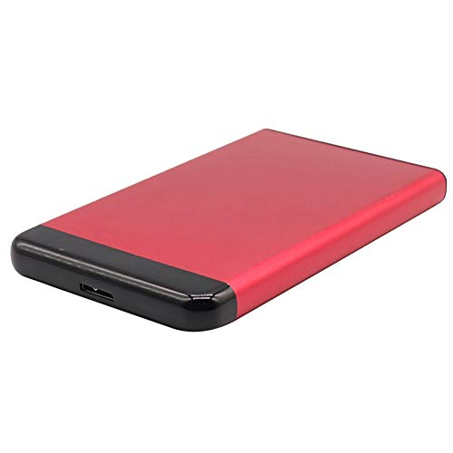 Cicony - Disco duro externo portátil para PC, sobremesa o portátil, 500 GB, 1 TB, 2 TB, No cero., rojo, 500 GB