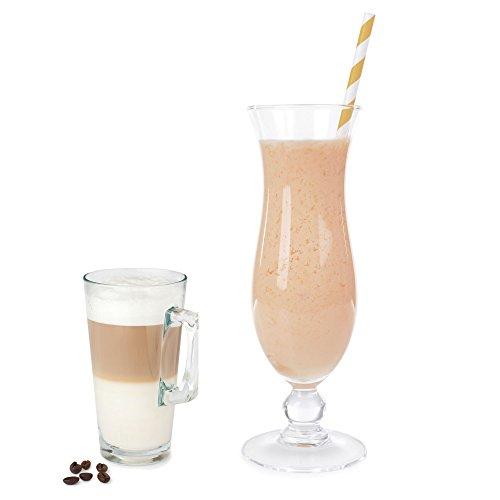 Latte Macchiato Molkepulver Luxofit mit L-Carnitin Protein angereichert Aspartamfreier Wellnessdrink (333 g)