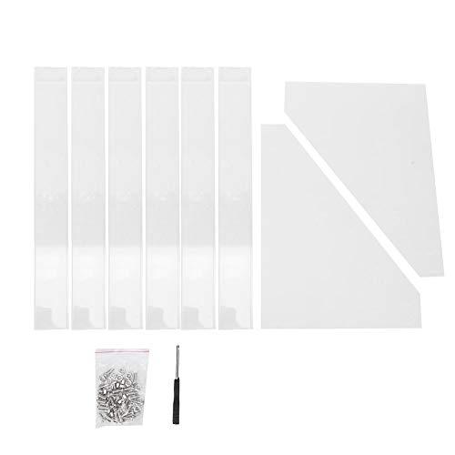 6 lagen afneembare acryl nagellak display organizer, doorzichtige nagels leveren cosmetisch rek, grote capaciteit lippenstift nagel gel polish opslag houder plank