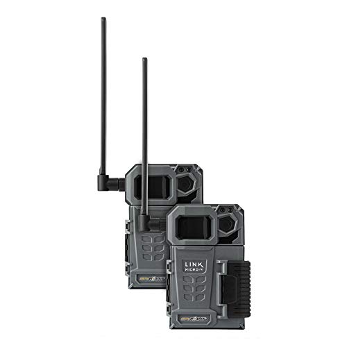 SPYPOINT LINK-MICRO-LTE TWIN PACK of Cellular Trail Cameras 10MP with Low-Glow LEDs for Quality Nighttime Photos, 80' flash and detection range, 4G/LTE photo transmission (LINK-MICRO-LTE-V-TWIN)